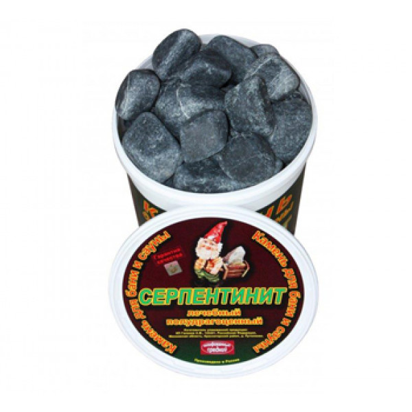 Серпентинит камень ( средний, обвалованный 20 кг)