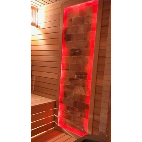 Панно из гималайской соли с цветной подсветкой 1 м2