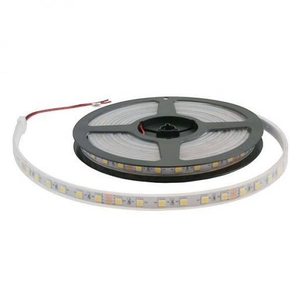 Светодиодная лента 12V 5050 CW 60 светод./м 14.4W IP-68 (Холодный белый) 1 метр