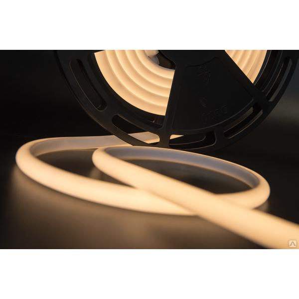 Термолента светодиодная SMD 2835, 180 LED/м, 12 Вт/м, 24В , IP68, теплый белый  1м