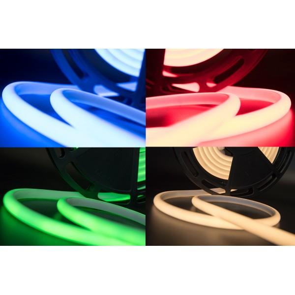Термолента светодиодная SMD 2835, 180 LED/м, 12 Вт/м, 24В , IP68, RGB цветная 1м