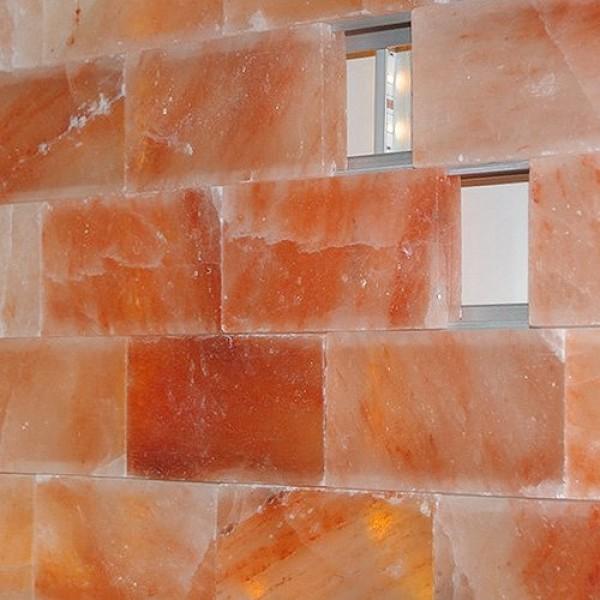 Соляная стена, скрытый бесклеевой монтаж, натуральный кирпич 5 см (1 кв. м)