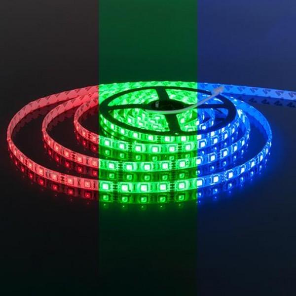 Светодиодная лента для бани  12V 5050 RGB 60 светод./м 14.4W IP-68 1 метр