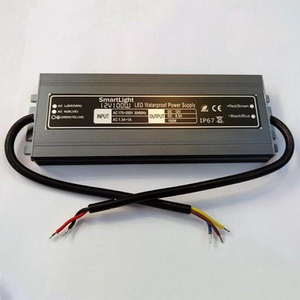 Блок питания 12V 100W 8.3A IP-67 SP-D AL герметичный