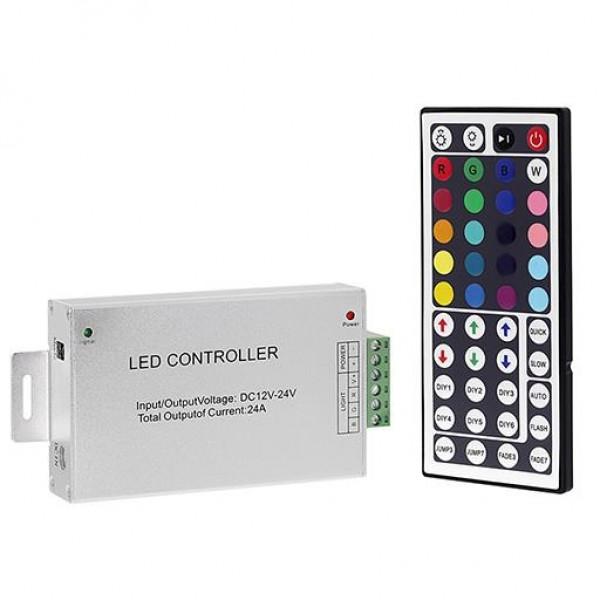 RGB Контроллер с радиопультом 24ARF16 12-24V 288-576W 24A +RF пульт (44 кнопки)