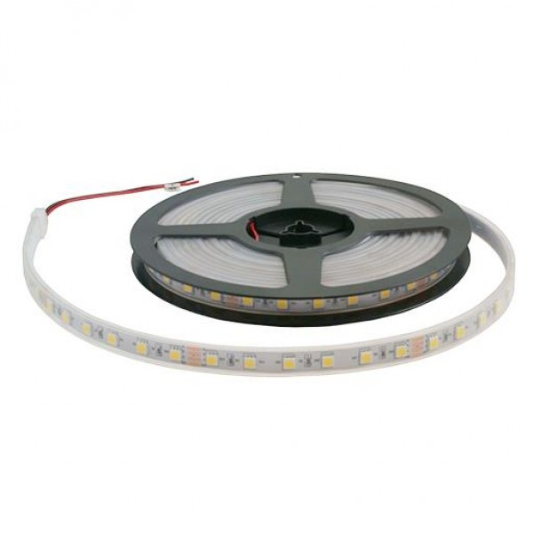 Светодиодная лента для бани  12V 5050 CW 60 светод./м 14.4W IP-68 (Холодный белый) 1 метр